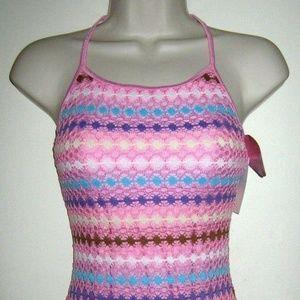 Crochet-Like Lined 1 PC Swimsuit Swimwear